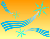 голубые снежинки 3 бесплатная иллюстрация