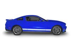 голубые спорты автомобиля стоковые фотографии rf