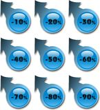 голубые стикеры Стоковое фото RF