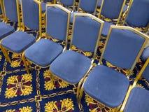 Голубые стулы Стоковые Фотографии RF