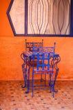 Голубые стулы Стоковое фото RF