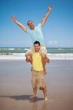 голубые счастливые люди Стоковые Изображения RF