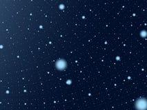 голубые темные глубокие звезды неба Стоковая Фотография