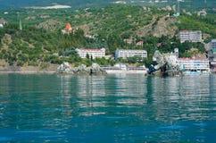 голубые тени моря города Стоковая Фотография RF