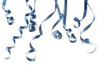 голубые тесемки Стоковое Фото