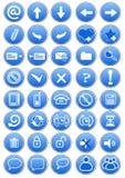 голубые установленные иконы Стоковое фото RF