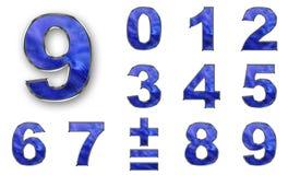 голубые установленные номера цвета Стоковое фото RF