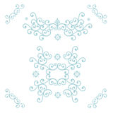голубые флористические картины иллюстрация вектора