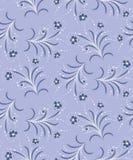 голубые цветки безшовные Стоковые Фотографии RF