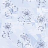 голубые цветки безшовные Стоковые Фото