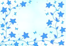 голубые цветки Стоковые Изображения RF