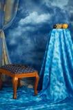 голубые цветы нутряные стоковая фотография