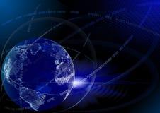 голубые цифровые гловальные технологии Стоковая Фотография