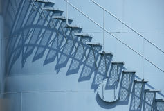 голубые шаги стоковая фотография rf