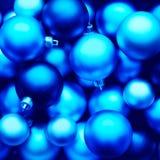 Голубые шарики рождества Стоковая Фотография RF