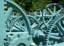 голубые шестерни Стоковое фото RF