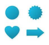 голубые ярлыки Стоковое Фото