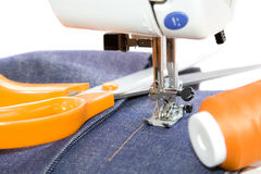 голубые джинсы Стоковая Фотография