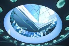 голубые circls потолка концентрические Стоковое фото RF