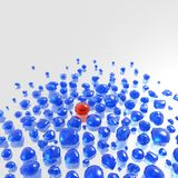 голубые gemstones одно красные определяют иллюстрация вектора