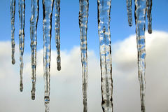 голубые icicles Стоковые Фотографии RF