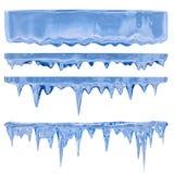 голубые icicles Стоковые Фото
