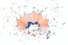 голубые shavings карандаша Стоковое Изображение RF