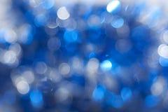 голубые sparkles темноты Стоковое Изображение