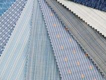 голубые swatches средства ткани Стоковые Фотографии RF