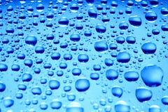 голубые waterdrops Стоковые Изображения RF