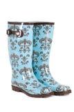 голубыми резина изолированная ботинками Стоковое Изображение