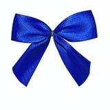 голубым белизна изолированная смычком Стоковые Фото