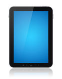 голубым изолированная компьютером таблетка экрана Стоковая Фотография RF