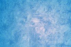 голубым стена покрашенная faux Стоковые Изображения