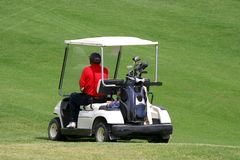 гольф автомобиля Стоковые Изображения