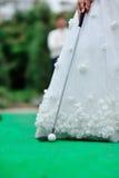 Гольф венчания стоковая фотография rf