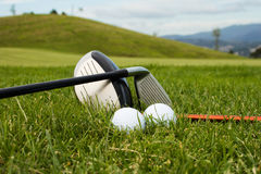 гольф вспомогательного оборудования Стоковое фото RF