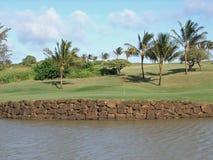 гольф зеленые Гавайские островы Стоковое Изображение
