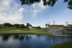 гольф курса Аризоны Стоковое Изображение RF