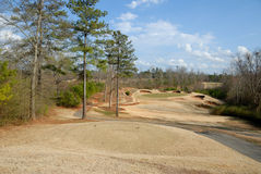 гольф курса с тройника Стоковое Изображение RF