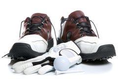 гольф перчатки шарика обувает тройник Стоковые Изображения RF