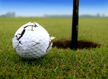 гольф привода дуновения вне Стоковая Фотография