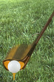 гольф с teeing Стоковое Изображение