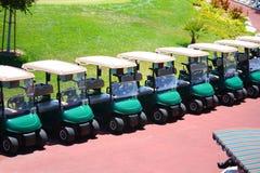 гольф тележек стоковое фото rf