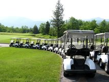гольф тележек стоковое изображение rf