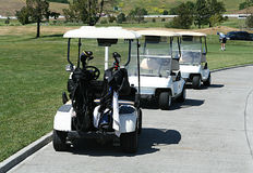 гольф тележек Стоковая Фотография