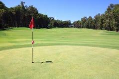 гольф флага курса стоковые изображения rf