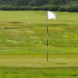 гольф флага поля Стоковое Изображение RF