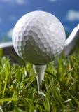 гольф шарика близкий вверх стоковое фото rf