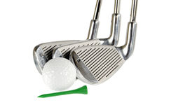гольф clubas шарика Стоковое Изображение RF
